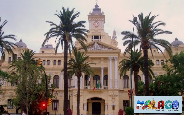 Fachada Principal, Ayuntamiento de Málaga