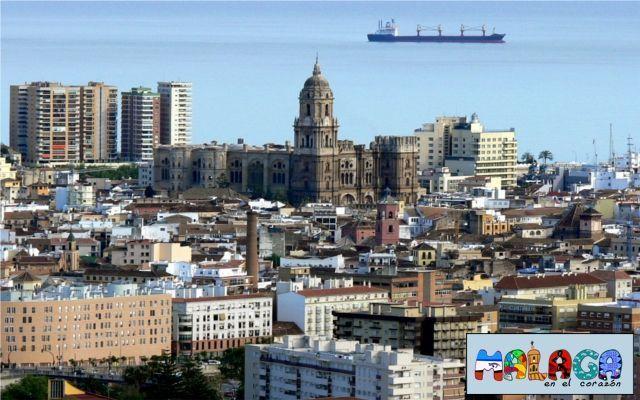 Vista de la Catedral de Málaga desde el Monte Coronado