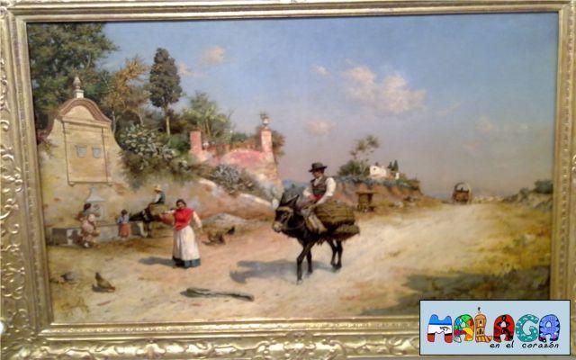 La Fuente de Reding/ cerca de la fuente-1880-1883- Guillermo Gómez Gil. Óleo sobre lienzo