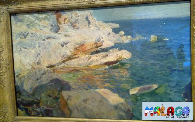 Rocas de Jávea y el bote blanco. 1905. Joaquín Sorolla y Bastida. Óleo sobre lienzo
