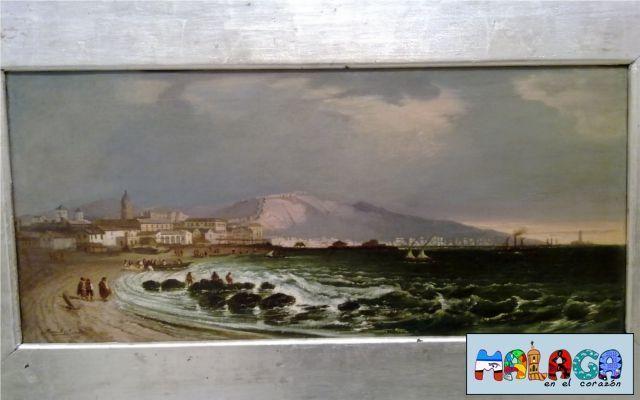 Puerto de Málaga.1847. Óleo sobre lienzo. Manuel Barrón y Carrillo. Sevilla 1814-1884